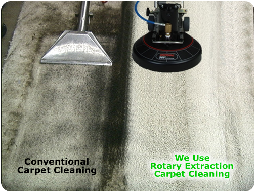 Rotary extraction using Rotovac leaves your carpets clean and residue free.